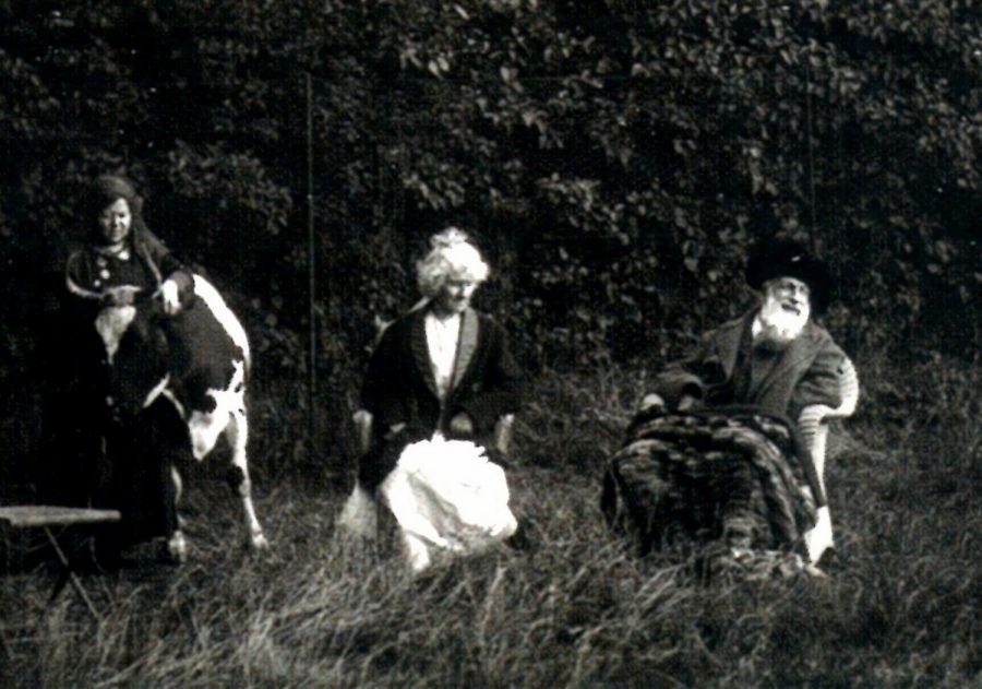 la vache Coquette et le couple Rodin