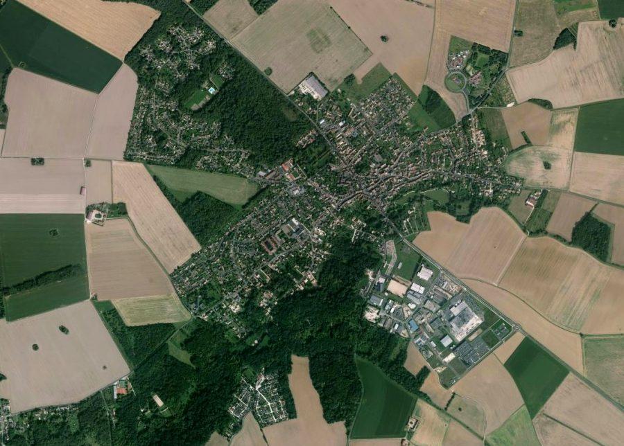 Vue aérienne du Châtelet-en-Brie