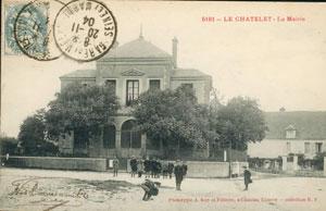 Carte postale de la Mairie (Collections de la SHCB)