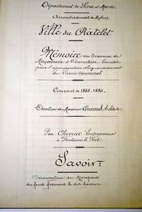 Mémoire des travaux de 1885 (Archives communales)