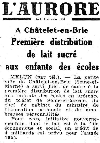 L'Aurore - jeudi 9 décembre 1954
