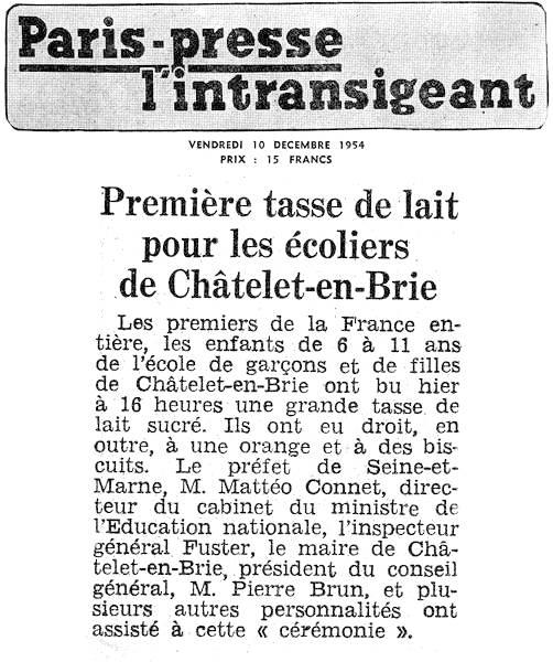 Paris-presse, l'intransigeant - vendredi 10 décembre 1954
