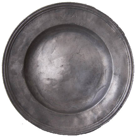 Assiette en cuivre XVIIIe siècle