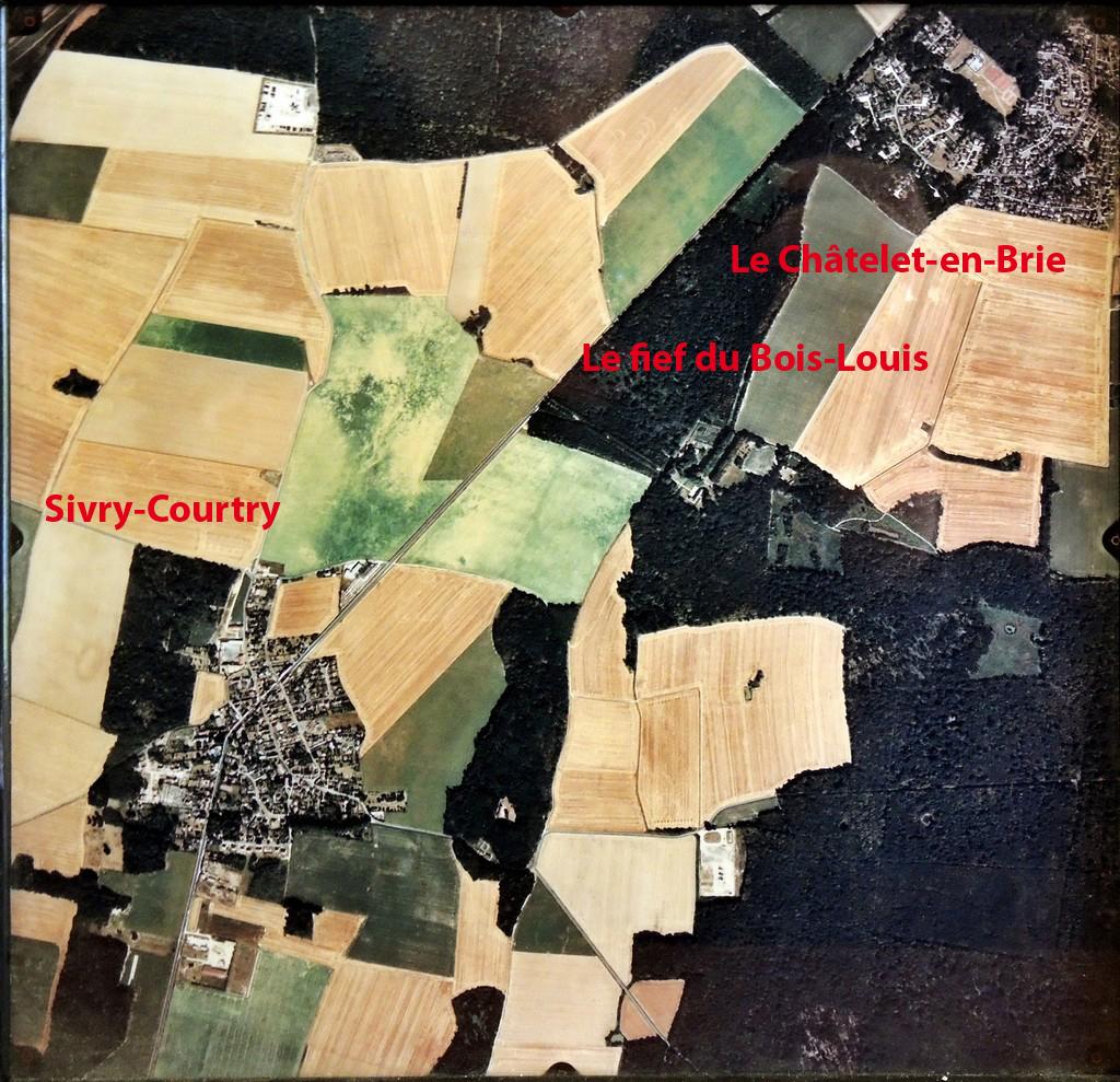Vue aérienne du châtelet-en-Brie, de Sivry-Courtry et du Bois Louis. (Photo du Bois Louis)
