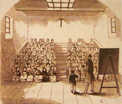 Une salle d'asile vers 1843