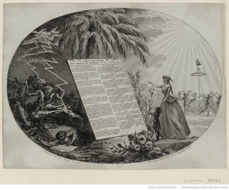 Déclaration des droits de l'Homme (Estampe Niquet le jeune).