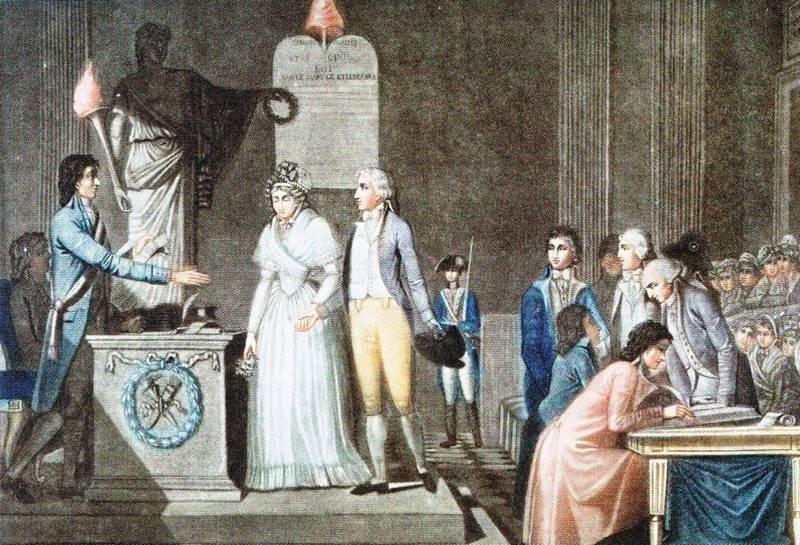 Mariage en 1792