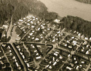 Photo aérienne de la Mussine (Collections de la SHCB)