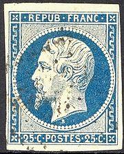 Le 25 centimes bleu