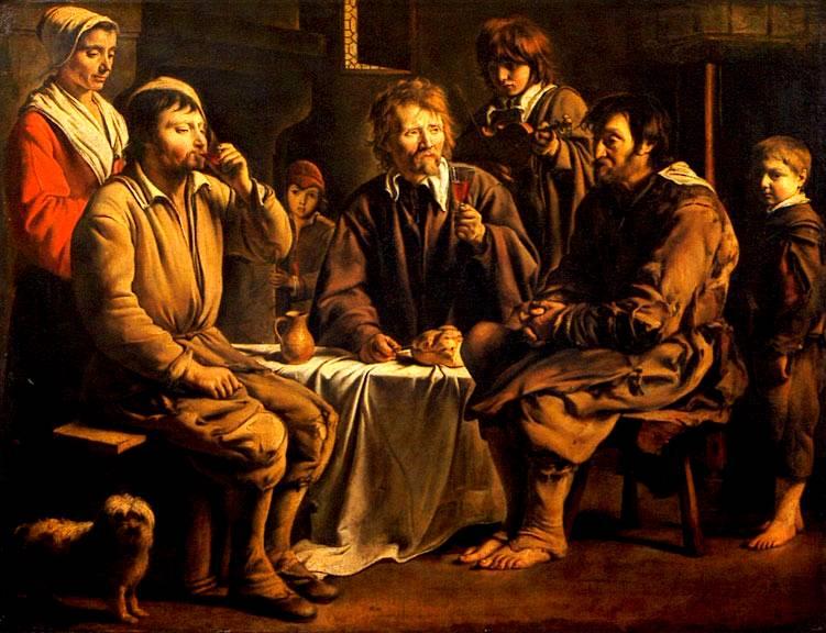 Repas de paysans Louis Le Nain 1642 (Musée du Louvre)
