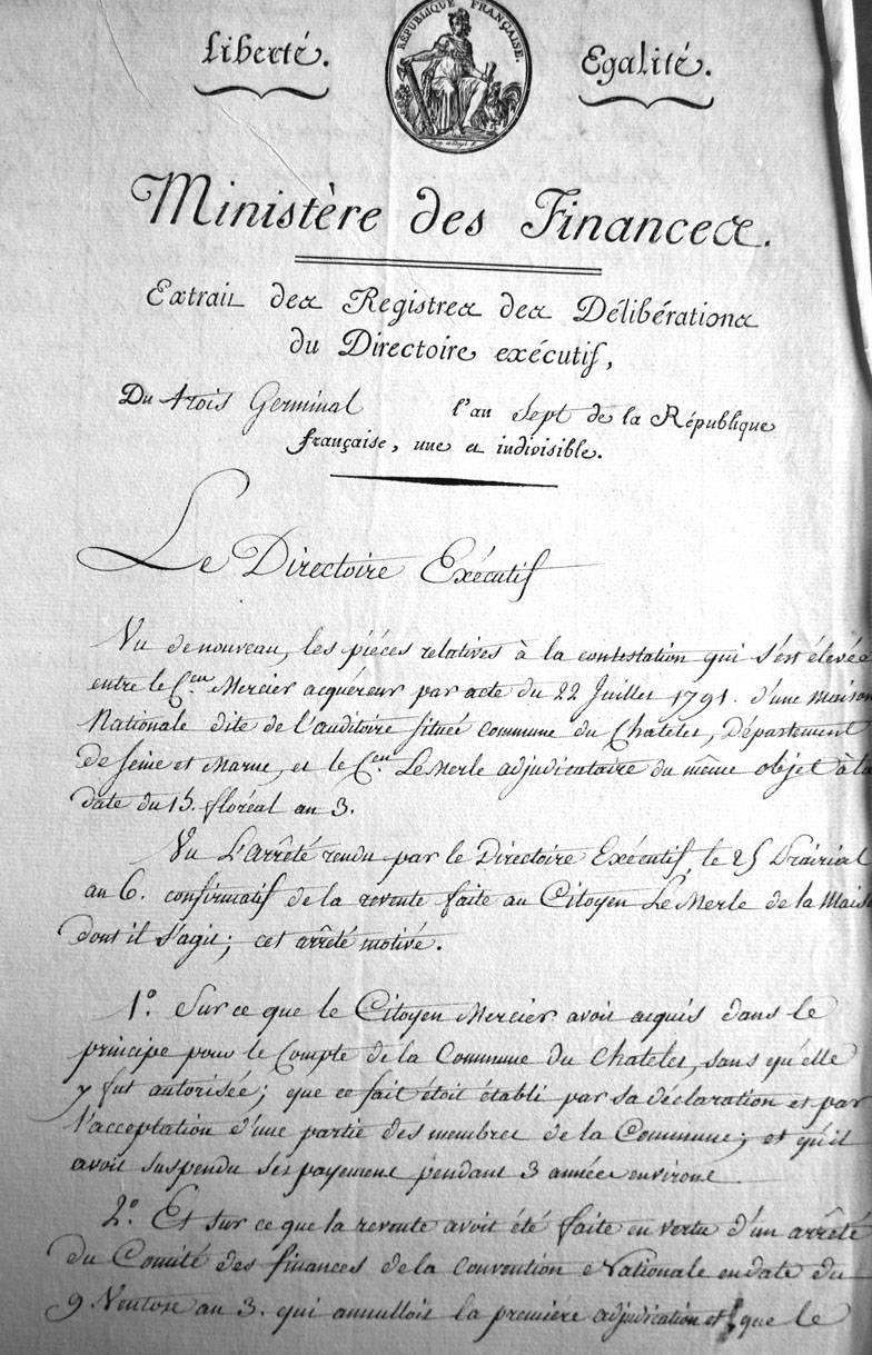 (Archives départementales de Seine-et-Marne cote 1Q1088)