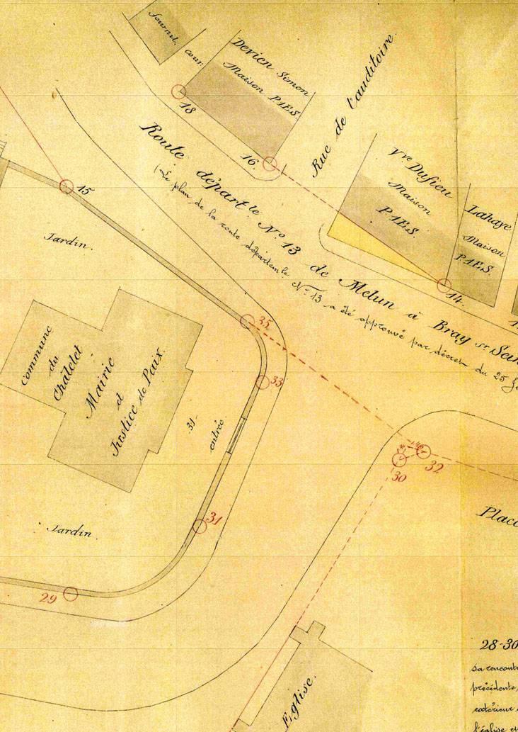 Plan d'alignement de 1881 (Archives communales)