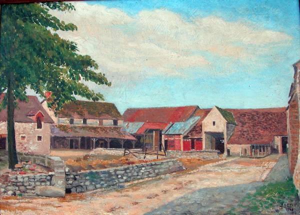 Ferme de la Ferlandière Peinture Bretin 1944 (Collection A et M Leclère)