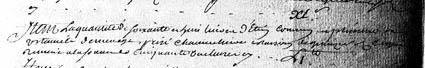 Extrait d'original de l'inventaire de Jeanne Vaumorin (Archives départementales 77 cote B 94)