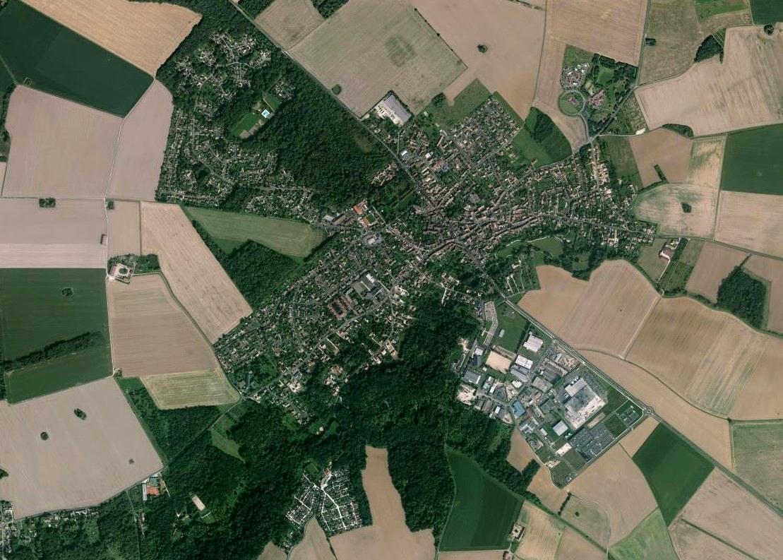 Vue arérienne du Châtelet-en-Brie