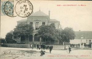 Carte postale de la Mairie (Collections de la SHCB)
