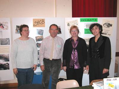 De gauche à droite: Karine Berthier, Jean-Claude Radigon, Marie-Claire Coste, Claire Mabire La Caille (Photo SHCB)