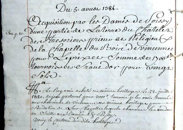 (Archives départementales des Yvelines) Cote 73H94