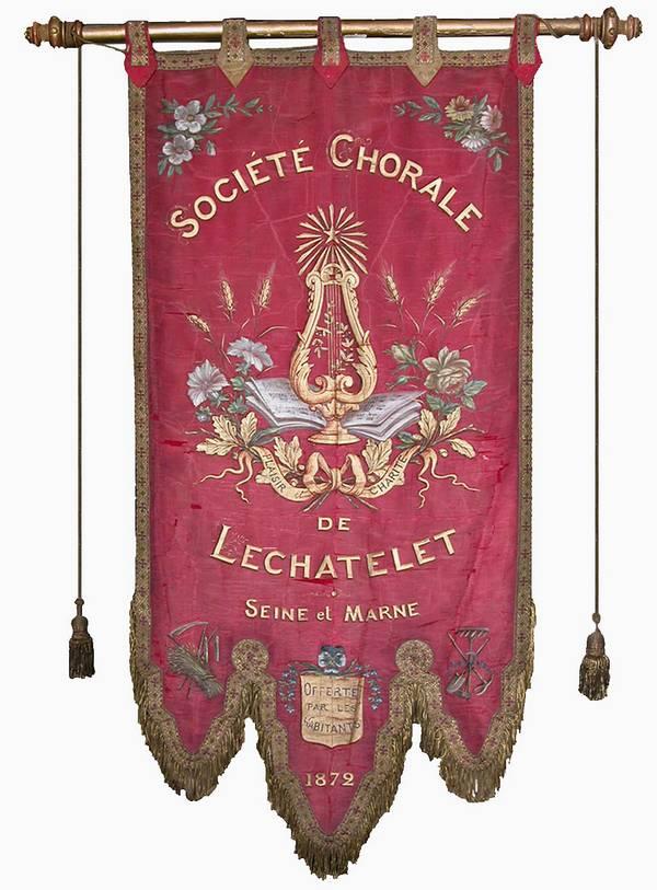 Bannière de la Lyre châtelaine (Collection SHCB)