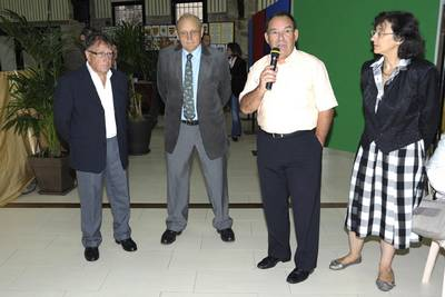 En présence de M. Mazard, Maire du Châtelet-en-Brie, M. Dey, Conseiller général, M. Radigon, Président de la Société d'Histoire du Châtelet-en-Brie et Mme Claire Mabire La Caille, Présidente du GASM (Groupement Archéologique de Seine-et-Marne)