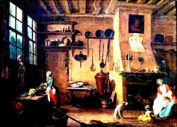 Intérieur paysan au XVIIIe siècle.