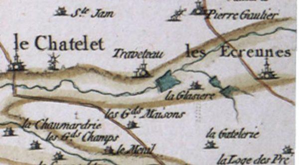 Carte de Cassini 1750