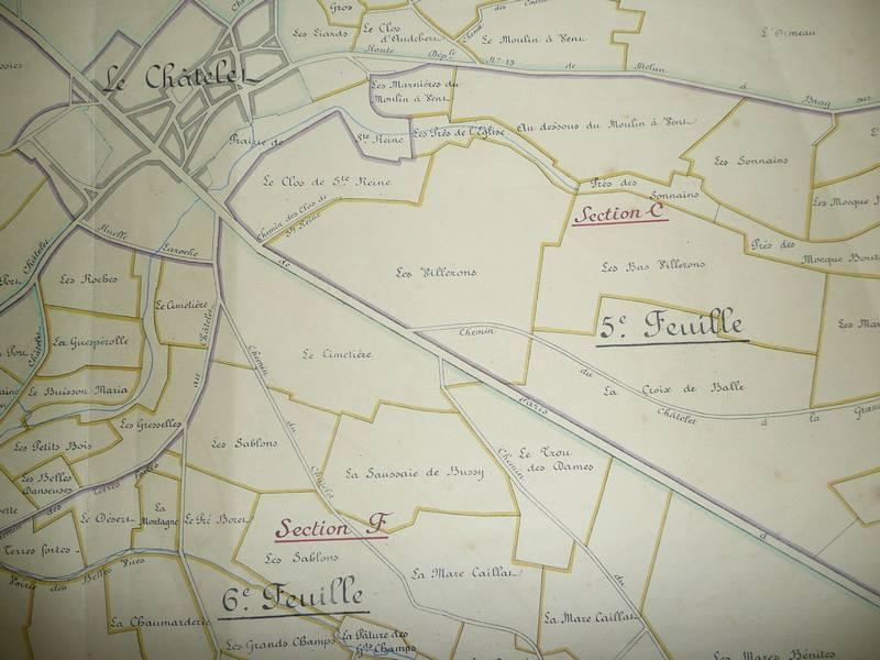 Plan échange de terrains 1885