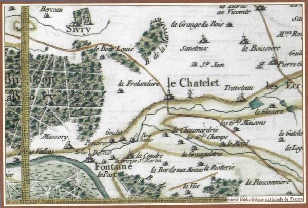 Carte de Cassini vers 1750