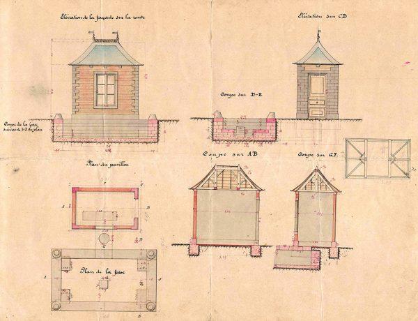 Plan d'un projet de bascule de la commune de Montceaux